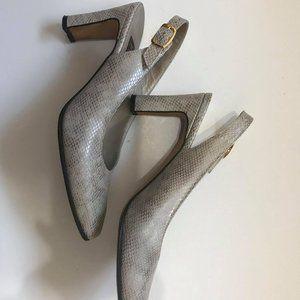 Ankle strap heels - Chic snake pattern **PRETTY**